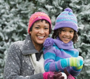 Mom and Daughter Winter