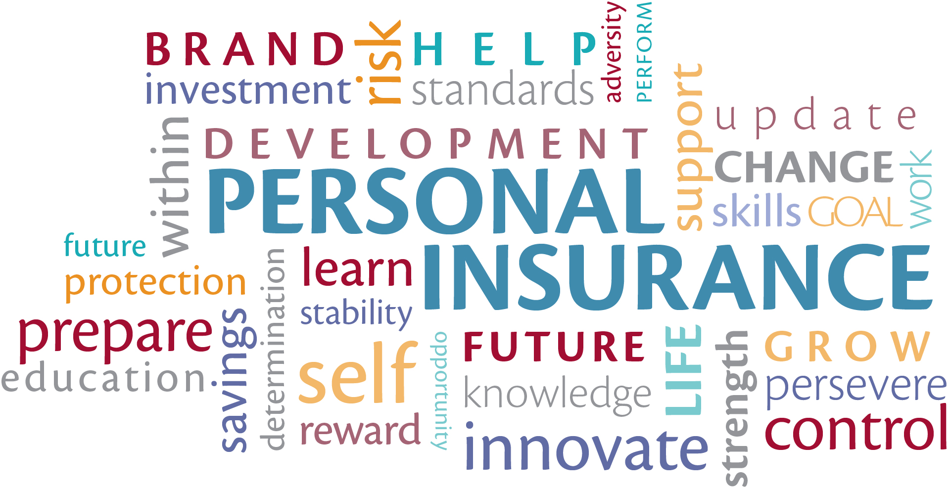 Personal Insurance Word Cloud