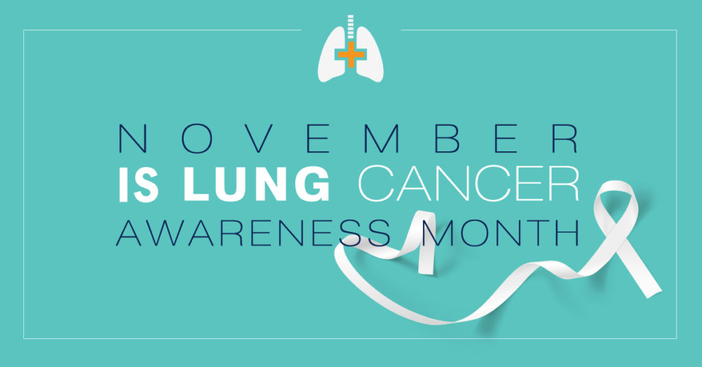 November is lung cancer awareness month!
